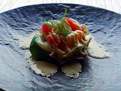 淡路島3年とらふぐのマリネと地野菜のサラダ仕立て